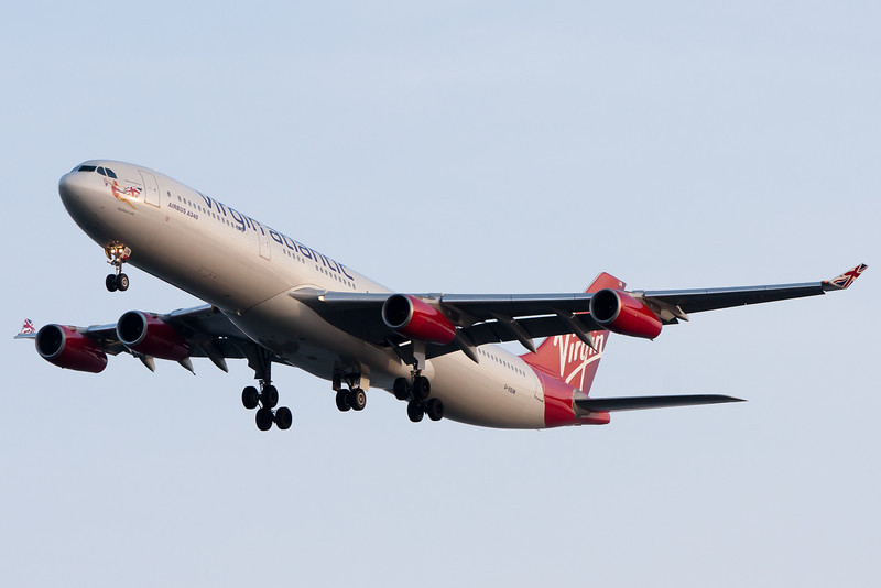 Virgin 11 from London is on final for runway 4R.