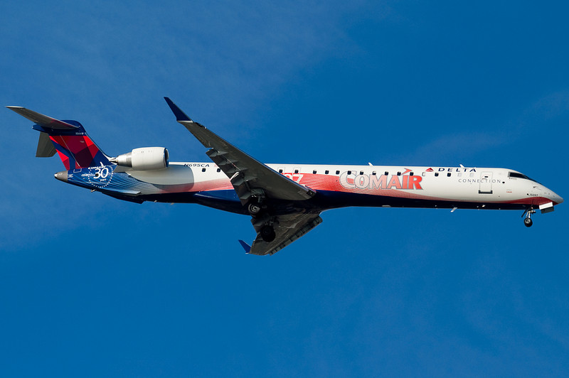 The Comair 30th anniversary CRJ was just introduced into service at this time.