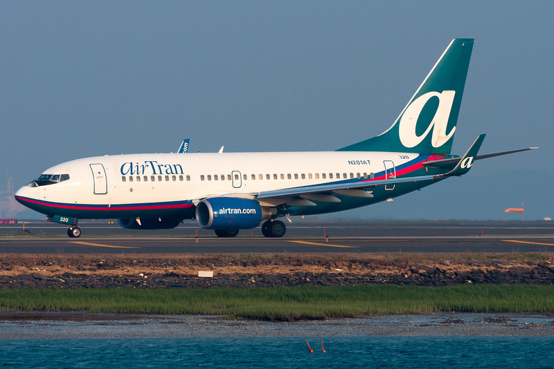This AirTran 737-700 is on its way for a runway 22R departure.
