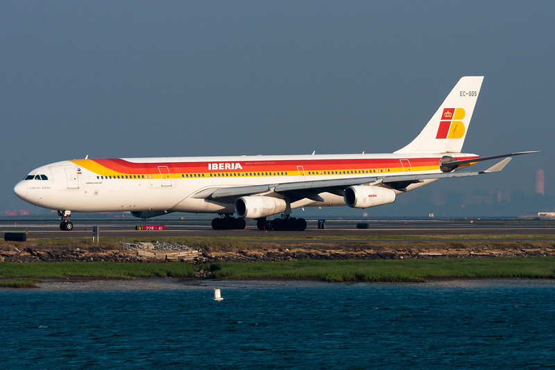 Iberia's A340 getting ready to return to Madrid.