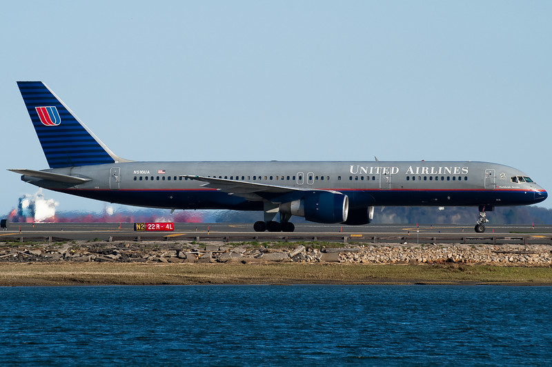 United also operates many 757s into Boston.