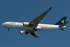 An Air One A330 operates as Alitalia 61R Heavy to Boston from Rome.