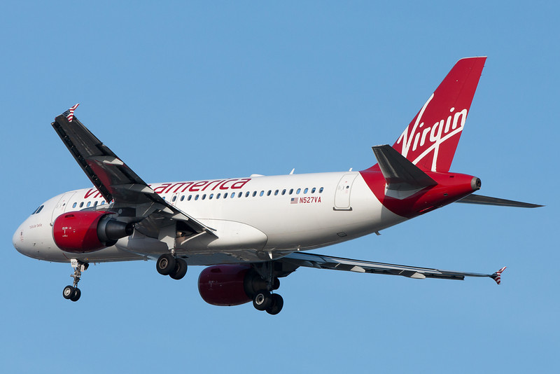 This Virgin A319 is on final for runway 4R.
