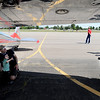 "Brian Wahlert and his son Ben, 2, are photographed by mom, Sarah in front of a Cessna from the 1950's.<br /> Boulder Municipal Airport hosted the 6th annual Airport Day on Saturday.<br />  For more photos  a video from airport day, go to  <a href=""http://www.dailycamera.com"">http://www.dailycamera.com</a>.<br /> Cliff Grassmick / June 18, 2011"