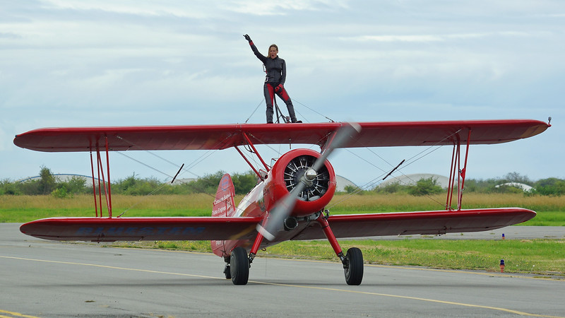 Carol Pilon - Wingwalker - Stearman
