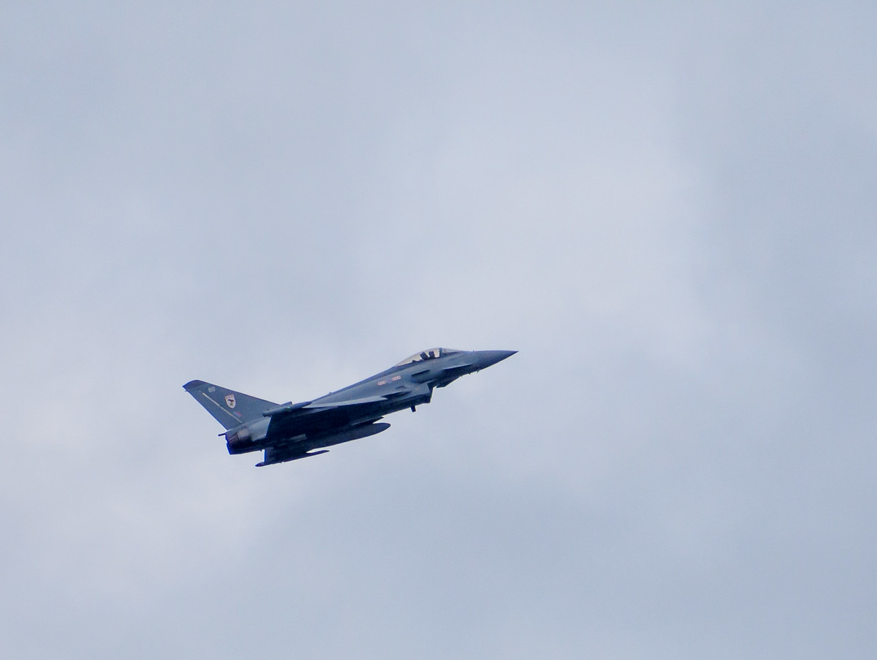 Typhoon fighter making a slow pass on day 2