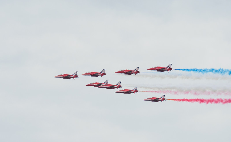 Red Arrows farewell pass on Day 3