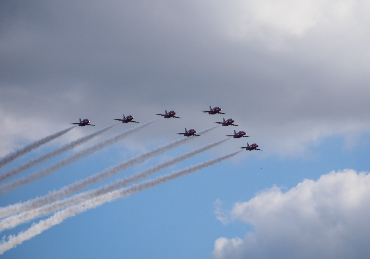Red Arrows flypast at Bournemouth airport