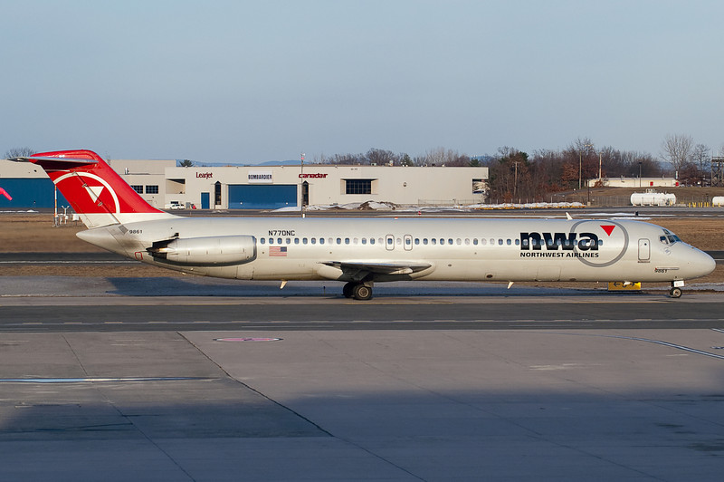 This Northwest DC-9 is heading over to terminal A.