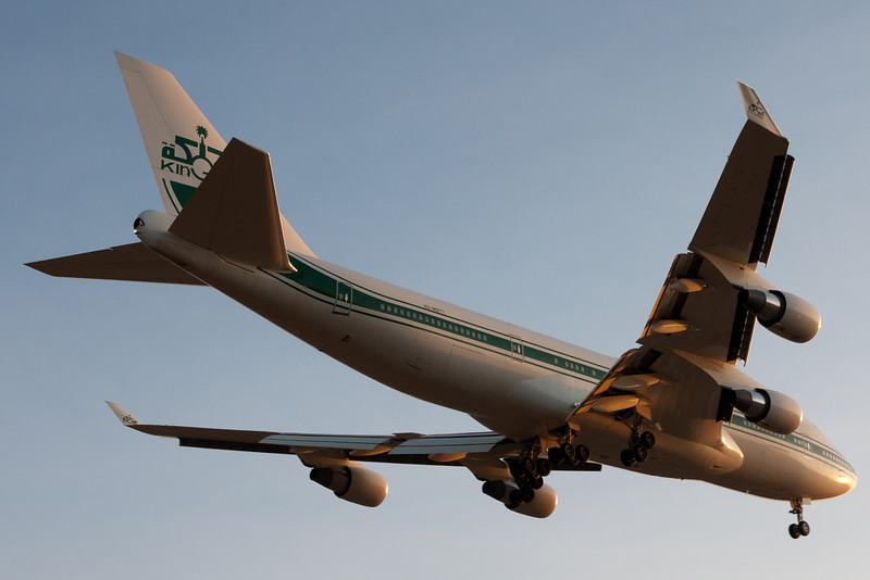 Just barely caught this 747. Risked a parking ticket by stopping on Perimeter Road, took out the camera, and grabbed a few frames. Very lucky to capture this.