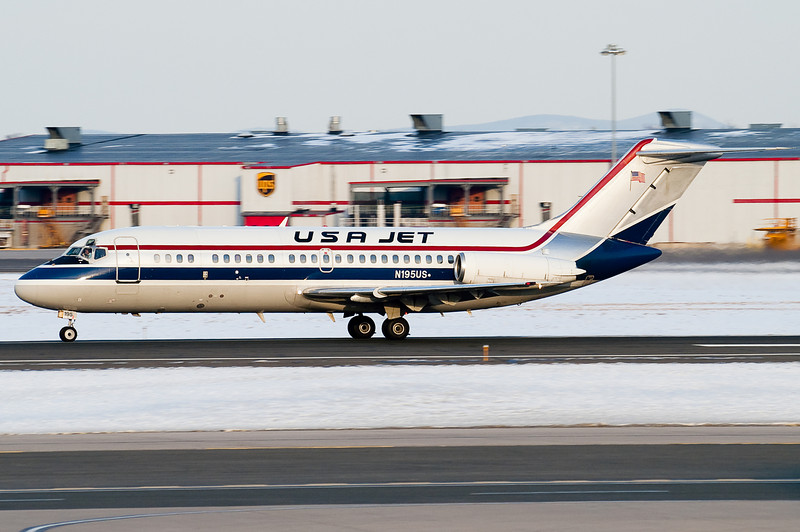 This USA Jet DC-9 is carrying the UConn Women's Basketball team.