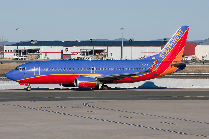 This Southwest 737 is bound to runway 6.