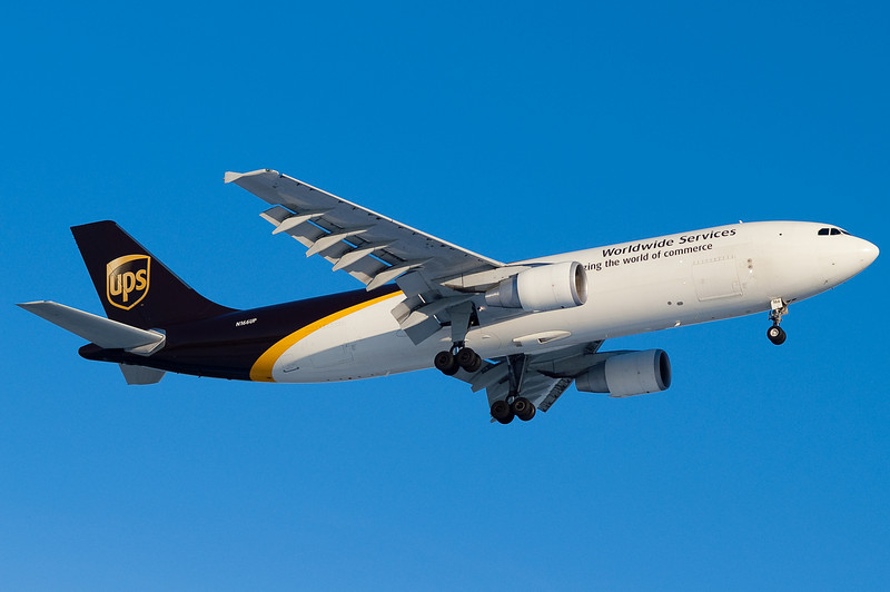 UPS has A300 service from Louisville, seen here on final to 24.