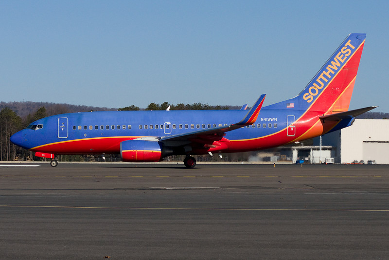 This Southwest 737 is readying for takeoff.