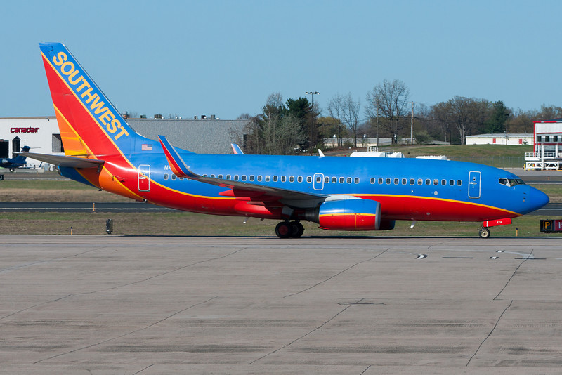 This plane just arrived to BDL after performing Southwest's newest service from Denver.