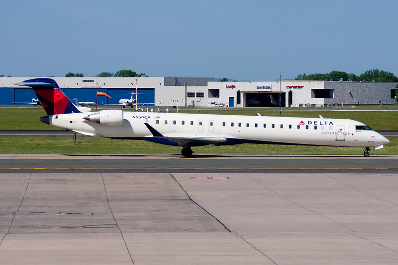 Delta's CRJ-900s are infrequent BDL visitors.