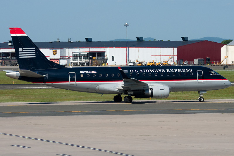 US Airways Express' E-170s are still in the old scheme.