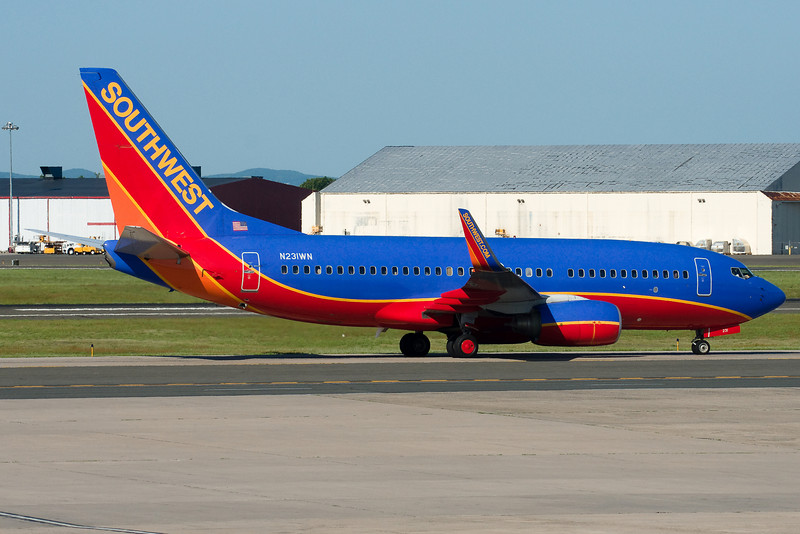This Southwest 737 is on its way to Terminal A.