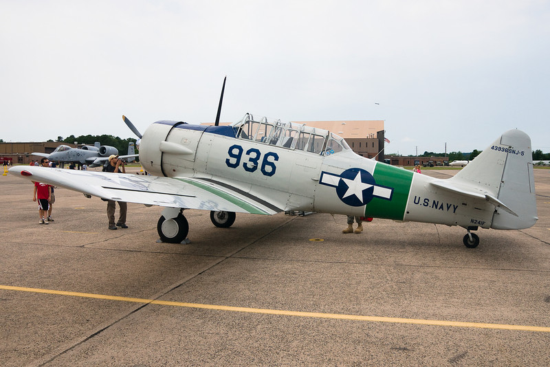 The SNJ-5 Texan on display at Space and Aviation Day.