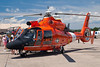 The Coast Guard operates these helicopters to perform airlift operations.