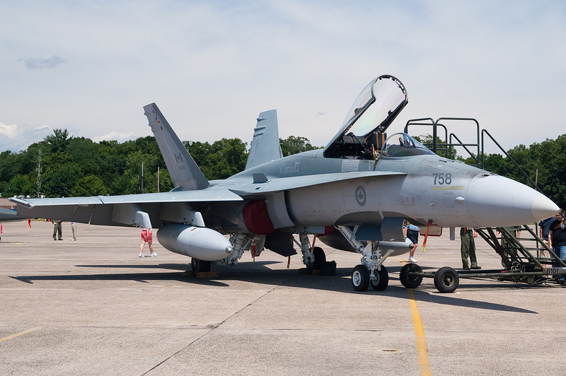 A Canadian Air Force F-18.