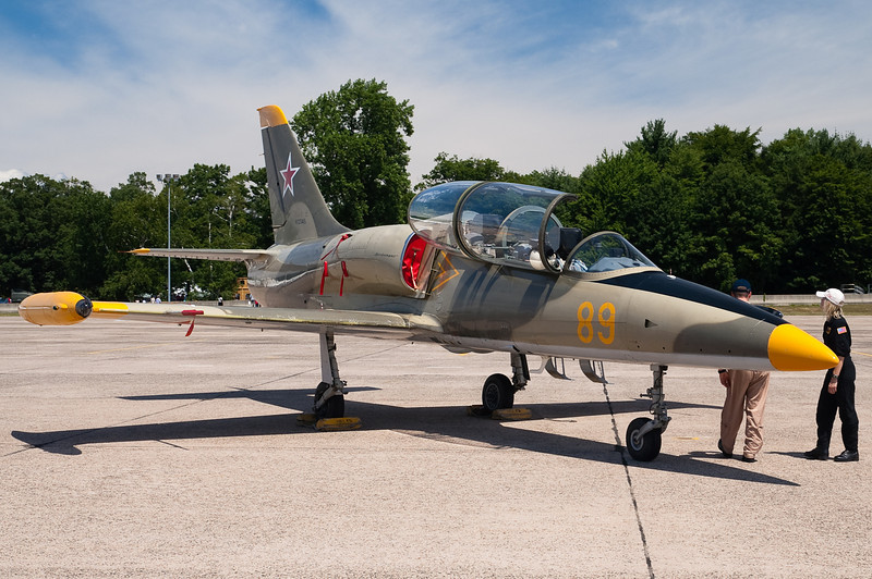 A privately owned L-39 Albatross pays a visit.