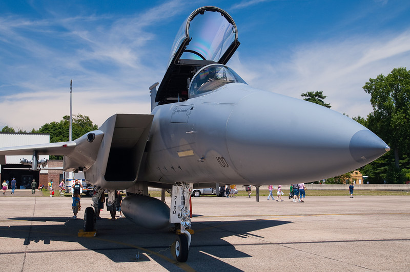 At the time, these F-15s were stationed at Otis AFB in Cape Cod.