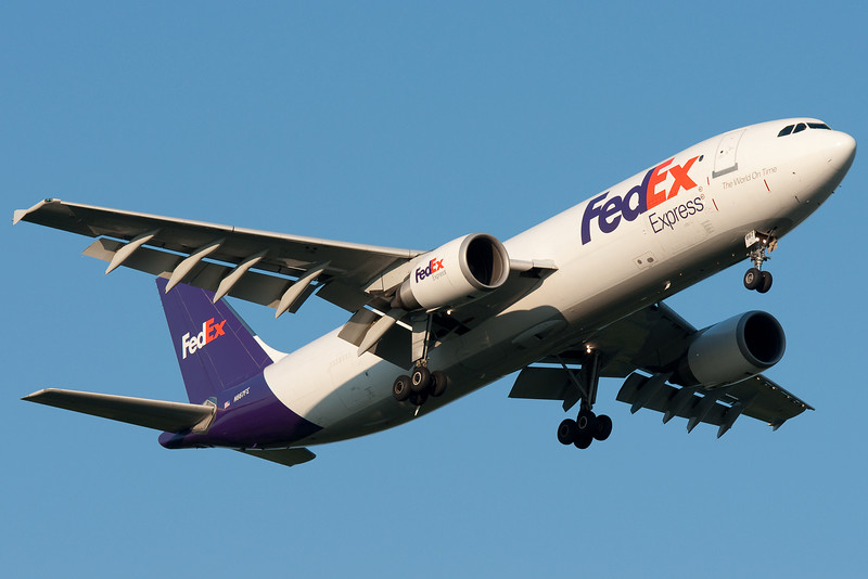 FedEx's daily Airbus service to Bradley is on final for runway 24.