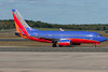 This Southwest 737 is headed towards the gates.