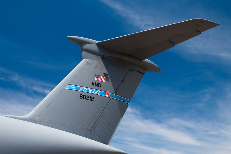 The tail of a C5 Galaxy is over four stories tall!