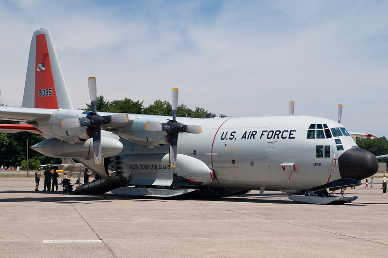 The ski-equipped LC-130H from Schenectady, NY.
