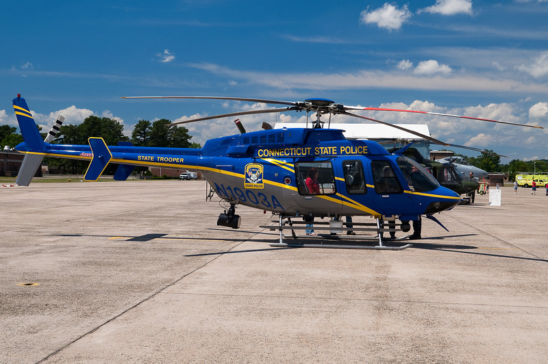 The CT State Police helicopter.