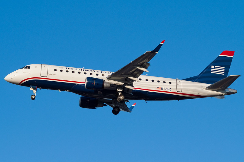 At the time, this was the first E-175 for US Airways Express and it was operating one of its first revenue flights.
