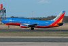 A Southwest 737-300 departs Bradley via runway 33.