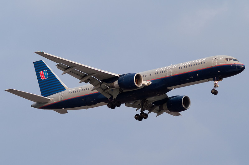 The United 757 from Chicago is on final to runway 24.