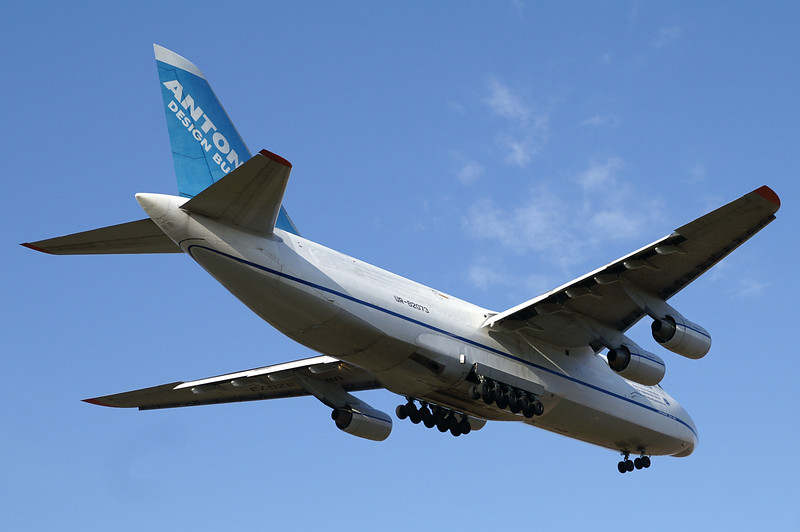 The Antonov AN-124 on final for runway 6.