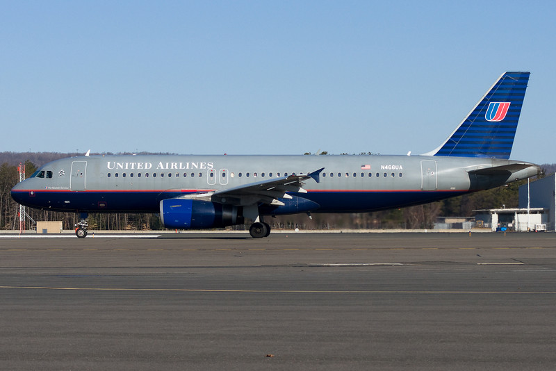 This morning the Chicago flight for United is operated by an A320.
