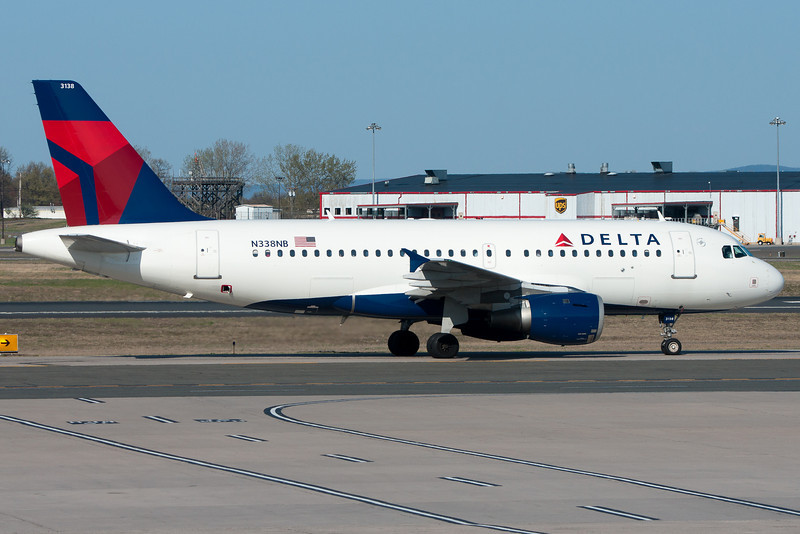 A Delta Airbus heading for Terminal A.