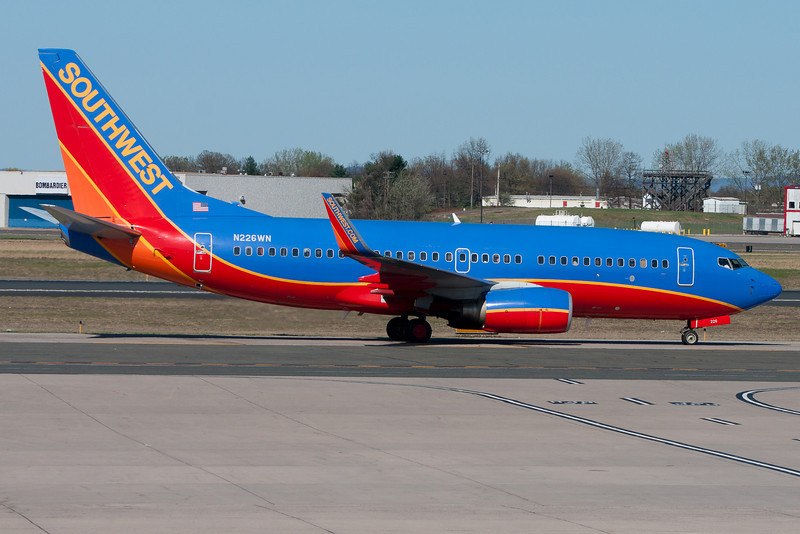 This Southwest 737 is heading for its Terminal A gate.