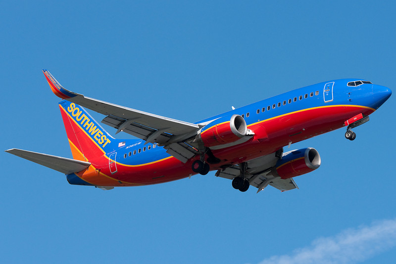 Another Southwest 737 on final for runway 24.