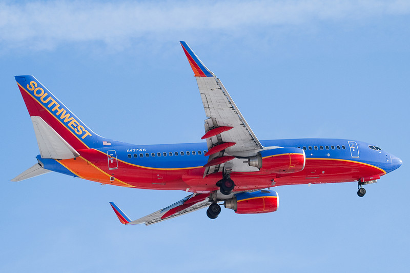 Southwest 737s are fairly common at Bradley.