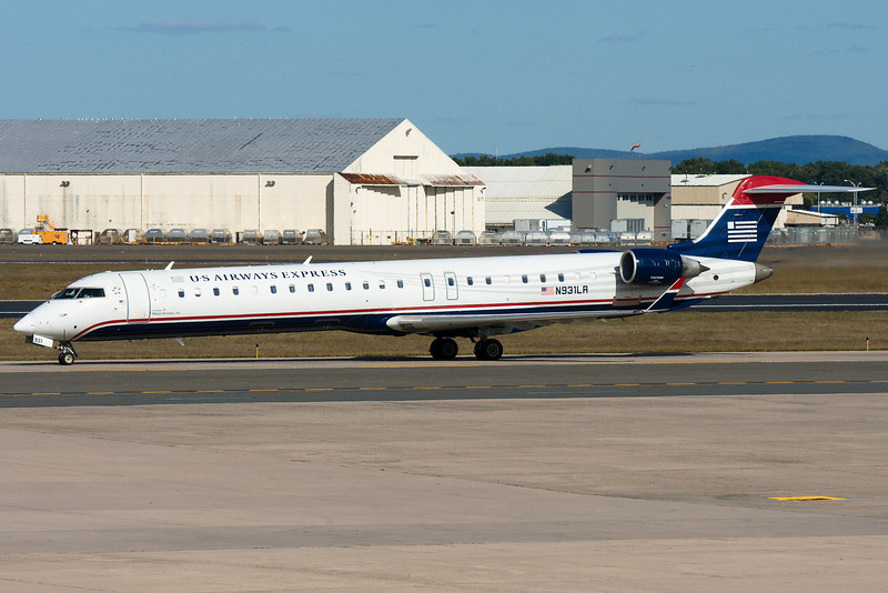A Mesa CR9 taxiing for departure.