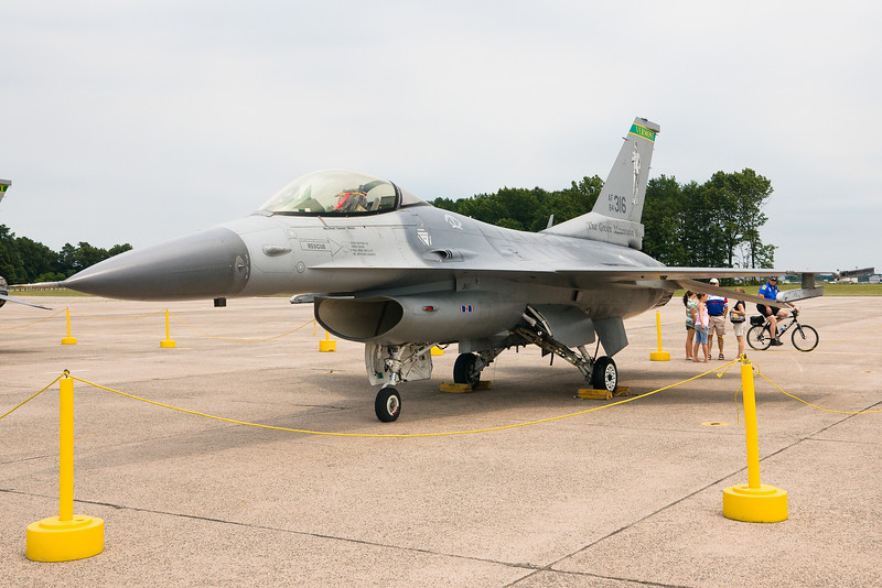 The Green Mountain Boys brought their F16s down to visit at Bradley's space and aviation day.