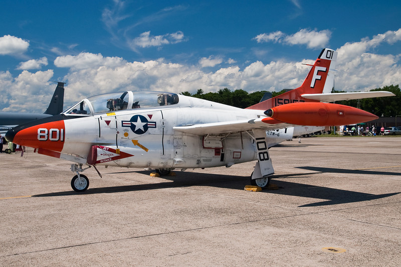 The T-2C Buckeye trainer makes a stop at BDL before being retired.