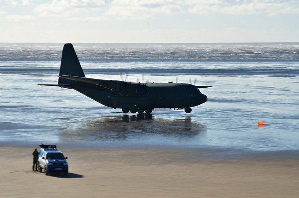 C-130 at Pembrey Sands