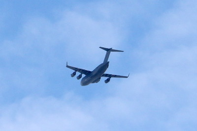 C-17A Globemaster ZZ178 over Glasgow 15 May 2020