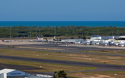 cairns airport none peak time