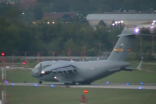 C-17 Departure from Chattanooga. Part of the Air Force Two / Dick Chenny visit.