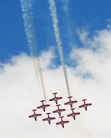 Canadair CT-114 Tutor - Snowbirds - Southern Wisconsin Air Fest - Janesville, Wisconsin - Photo Taken: May 29, 2010