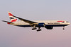 British Airways 777 on final for 24R at Montreal.
